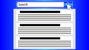Search string in browser. Vector art illustration Stock Photography