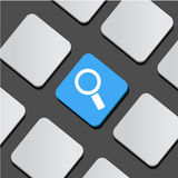 Search symbol icon on a button keyboard. Vector Illustration Royalty Free Stock Images