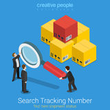 Search tracking number order shipping flat 3d isometric vector Royalty Free Stock Photography