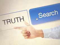 Search the truth Stock Photo