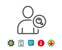 Search User line icon. Profile Avatar sign. Stock Image