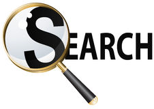 Search vector illustration. Magnifying glass vector illustration in eps 10 Royalty Free Stock Image