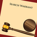 Search Warrant. The law enforcement system - a search warrant - a court order. Vector illustration Royalty Free Stock Image