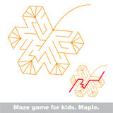 Search the way. Autumn kid maze game. Royalty Free Stock Image
