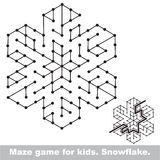Search the way. Kid maze game to be colored. Royalty Free Stock Photos