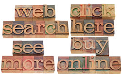 Search web, click, buy online Royalty Free Stock Photography