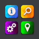 Search web icons collection Stock Image