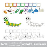 Search the word Centipede. Royalty Free Stock Image