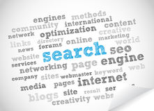 Search Word Cloud. Abstract Background Royalty Free Stock Photos