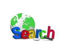 Search word with globe Stock Images