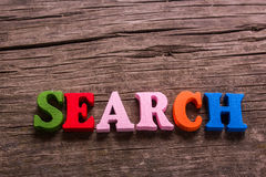 Search word made of wooden letters Stock Image