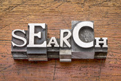 Search word in metal type Royalty Free Stock Image