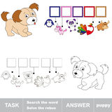 Search the word PUPPY Royalty Free Stock Photo