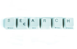 Search word written with computer buttons Stock Images