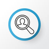 Search Worker Icon Symbol. Premium Quality  Find Employee Element In Trendy Style. Premium Quality  Find Employee Element In Trendy Style.  Search Worker Icon Royalty Free Stock Image