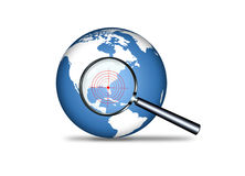 Searching. For warning,security concept Stock Photos