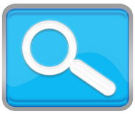 Searching. Button for your website stock illustration