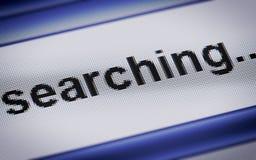 searching Foto de archivo
