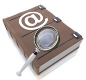 Searching the address book Royalty Free Stock Image