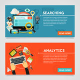 Searching and Analytics Concept Royalty Free Stock Photos