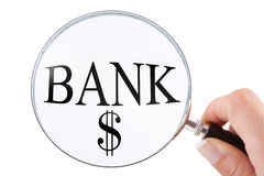 Searching for a bank Stock Photography