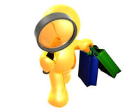 Searching for bargain sale shopping Royalty Free Stock Photography