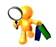 Searching for bargain sale shopping Royalty Free Stock Photo