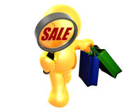 Searching for bargain sale shopping Royalty Free Stock Images
