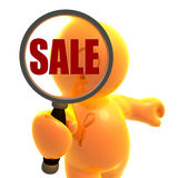 Searching for bargain sale shopping Stock Photo