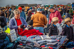 Searching for Bargains at Amish Mud Sale Stock Photos