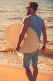 In searching of big wave. Royalty Free Stock Photo