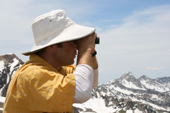 searching with binoculars Stock Images