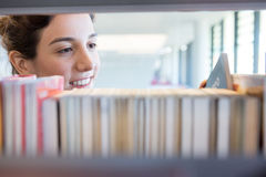 Searching for Books at Library Royalty Free Stock Photos