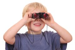 Searching boy Royalty Free Stock Photos