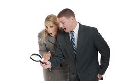 Searching for business clues Stock Images