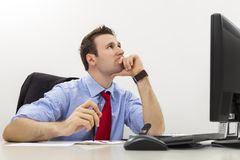 Searching for business solutions Stock Photo