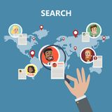 Searching for candidate. stock illustration