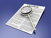 Searching the Classifieds Royalty Free Stock Photo