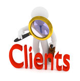 Searching for clients, 3d rendering Royalty Free Stock Images