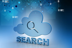 Searching cloud computing Stock Photos
