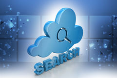Searching cloud computing Royalty Free Stock Photo