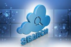Searching cloud computing Royalty Free Stock Photo