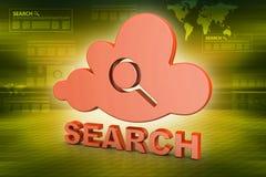 Searching cloud computing Royalty Free Stock Photos