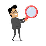 Searching Concept Flat Vector Illustration Stock Photography