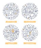 Searching Concepts Doodle Illustrations Royalty Free Stock Images