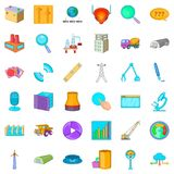 Searching icons set, cartoon style. Searching cons set. Cartoon style of 36 searching vector icons for web isolated on white background stock illustration