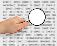 Searching for data #2. Concept of searching for data, binary code is abstract Royalty Free Stock Photos