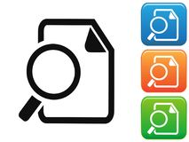 Searching Documents button icons. Isolated Searching Documents button icons set on white background Stock Images