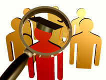 Searching for educated leader icon Royalty Free Stock Photography