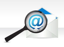 Searching Email Royalty Free Stock Photo